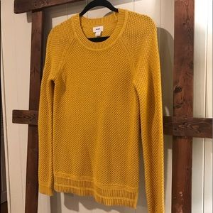 Old Navy Mustard Cable Knit Pullover
